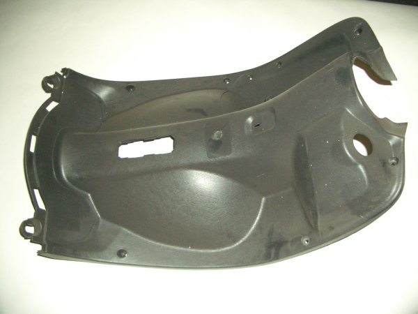 Black Plastic Scooter Legshield Large Retro Scooter-178