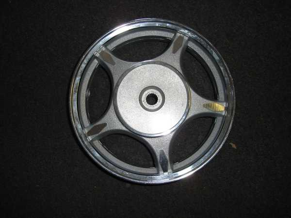 Rear Alloy Wheel, Drum Brake, Large Retro Scooter- 773